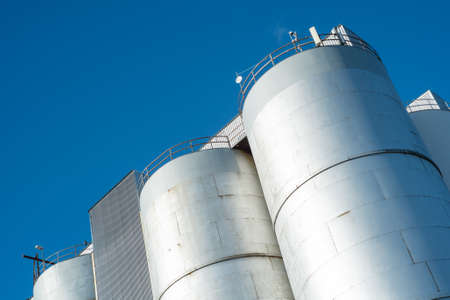 A photo of Industrial Silos  Stock Photo - 17347968