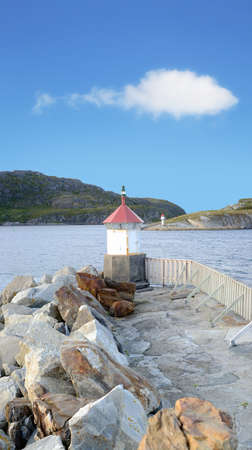 A photo of an old lighthouse - Norway photo