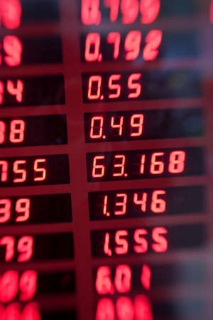 A lens blurred image of exchange rates Stock Photo - 17353872