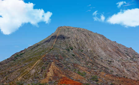 a photo of the dead volcano Koko Head, Oahu, Hawaii Stock Photo - 17357274