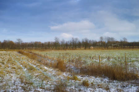 A photo of Early winter landscape in the countryside photo