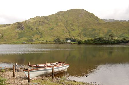 lough: kylemore lough Stock Photo