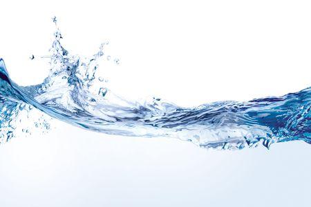 spruzzi acqua: Acqua splash. Close-up di acqua splash contro sfondo bianco Archivio Fotografico