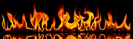 blazing: Fire and flames. Fire flames on a black background.