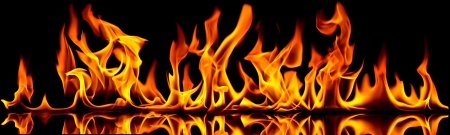 Fire flames on a black background. Stock Photo - 10694758