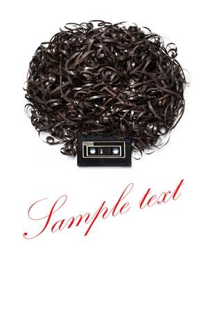 Lenny Kravitz - tordre le style reggae - Une tête avec coiffure afro en cassette audio