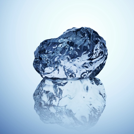 glacial: Ice cold beauty - A professionally formed piece of ice on reflecting surface