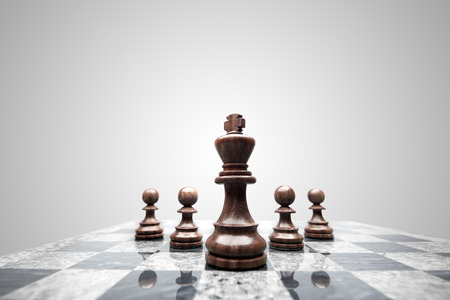 king: A squad of 5 chess pieces leaded by the king.
