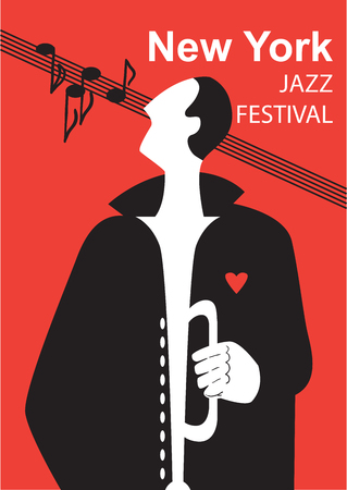 Creative conceptual music festival vector. Man playing musical instrument.