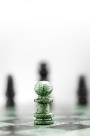 jugando ajedrez: Un peón en el inspector antes de las formas.