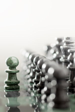 supremacy: One pawn staying against full set of chess pieces.