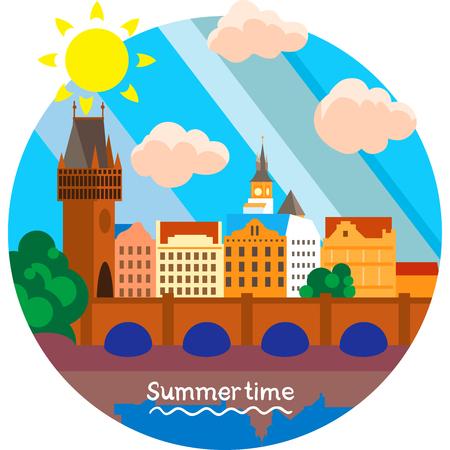 Creative conceptual vector. Summertime vacation.