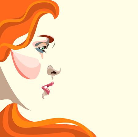 attractive girl: Creative conceptual, womans face.