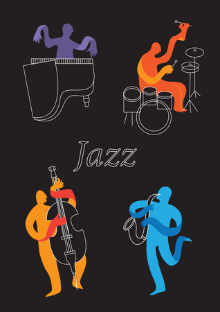 Creative conceptual music festival vector. Band playing musical instruments.