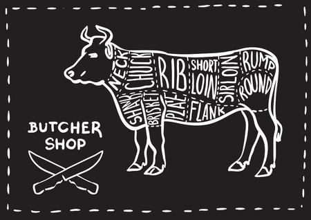 Creative conceptual vector. Sketch hand drawn meat at butchers shop recipe illustration, chalk, ink, line art, vector.