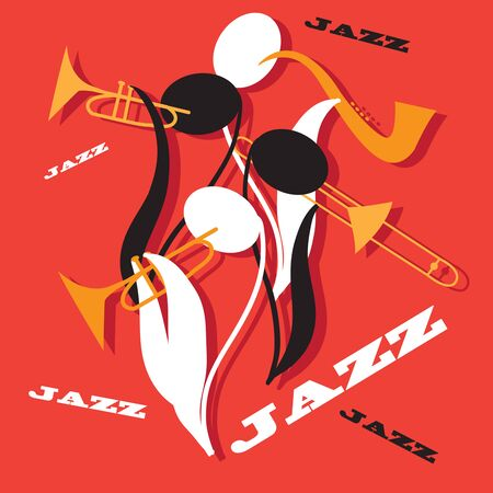 Creative conceptual music festival vector. Notes playing trumpet.