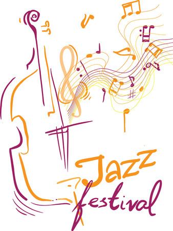 創造的な概念音楽祭ベクトル。楽器。