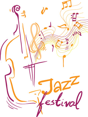 Creatieve conceptuele muziekfestival vector. Muziekinstrumenten.