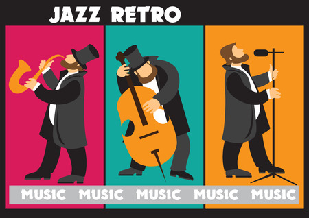 Creative conceptual vector. Man playing musical instrument.
