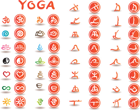 Creative conceptual vector. Drawn yoga poses.