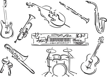 Creative conceptual music festival vector. Musical instruments. Stok Fotoğraf - 95672047