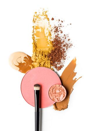 白い背景に化粧品の見本の創造的なコンセプト写真。 写真素材