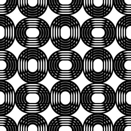 modular rhythm: Concentric circles. Vector seamless pattern. Modern stylish texture.