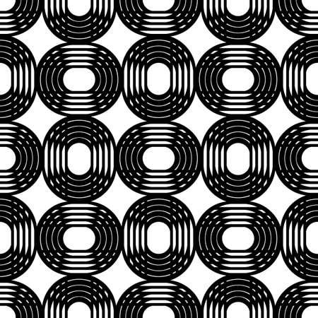 modular rhythm: Concentric circles. Vector seamless pattern. Modern stylish texture.