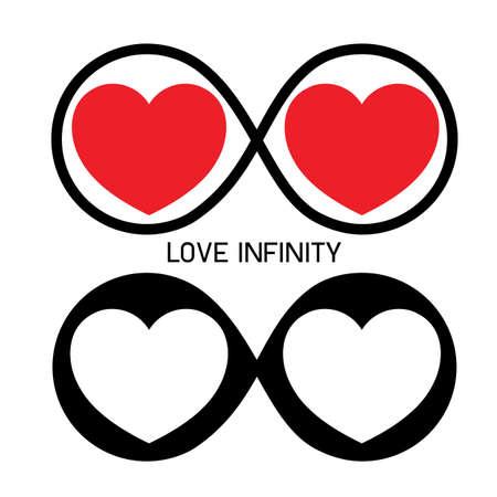 amour infini, toujours symbole Vecteurs