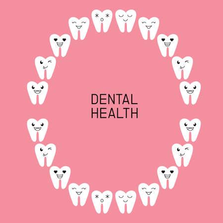 Dental Health. diagram teeth illustration