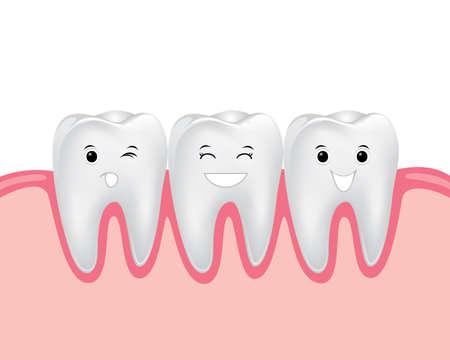 ガムで歯歯科漫画ベクトル