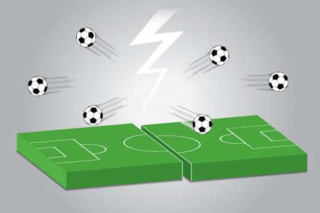 soccer field: illustration of football field. soccer