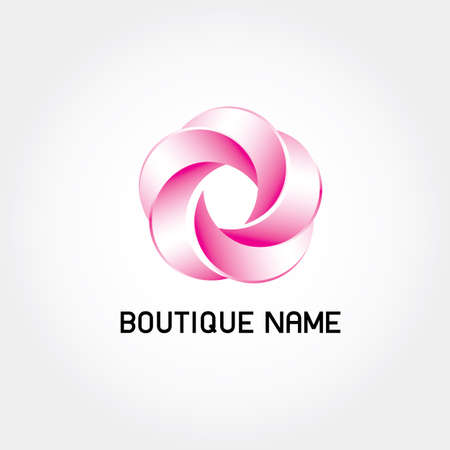 shop tender: Beautiful  Logo with Flower for Boutique or Beauty Salon or Flowers Company