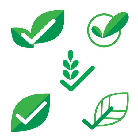 check mark vector, verification Eco  , design elements