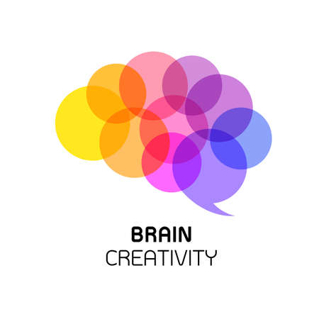 Brain icon design. creative thinking. brain idea isolated on white background.