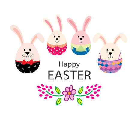 Happy Easter, Cute Bunny, illustration