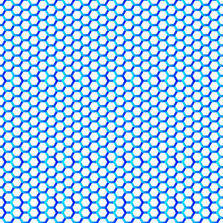honey comb: Hexagonal seamless pattern. Bluel Honey comb on white background. Fashion geometric design. Graphic style for wallpaper, wrapping, fabric, apparel, print production.