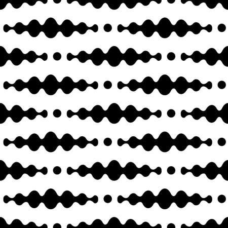 Design monochrome waving seamless pattern. Abstract zigzag background. Vector illustration. Illustration