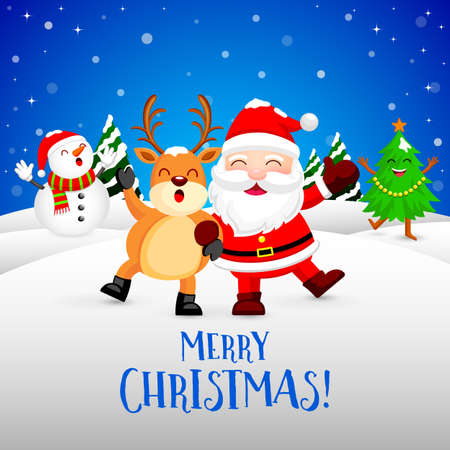 Funny Christmas Characters design
