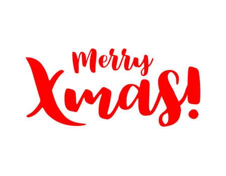 Merry Xmas lettering design.
