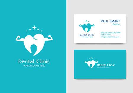 Dental clinic, business card design  template. Pattern vector editable.