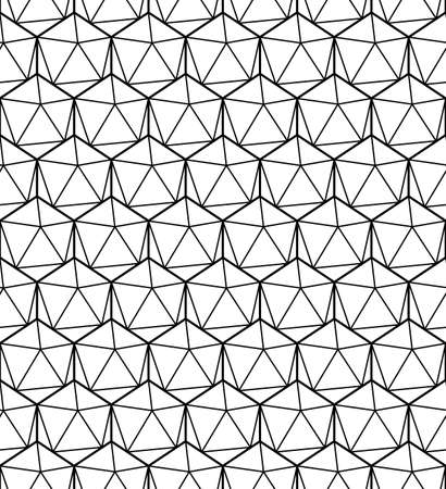 Geometric seamless pattern. Black line. Vector illustration isolated on white background. Illustration