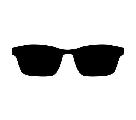 Black sunglasses vector icon. Illustration flat style, silhouette isolated on white background. Illustration
