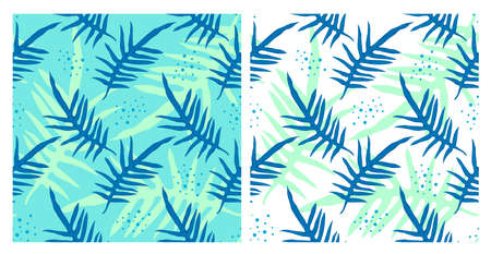 Leaves seamless pattern. Tropical camouflage print. Great for textiles, banners, wallpapers, wrapping. Vector illustration design.