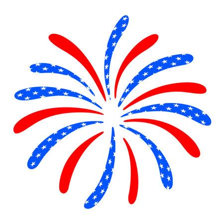 Firework design.. 4th of July. American Independence Day Celebration. Vector illustration.