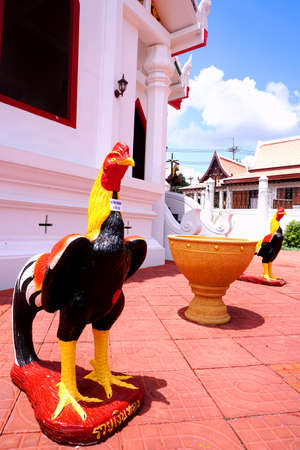 fighting cock: Fighting cock statues
