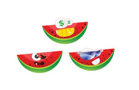 felling: Emoticon watermelon pack4