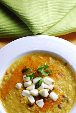 argentina soup with a cheese Stock Photo