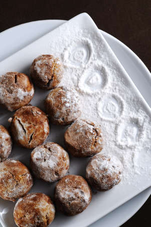 homemade cookies on square plate