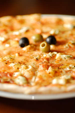 Close-up view of tasty pizza